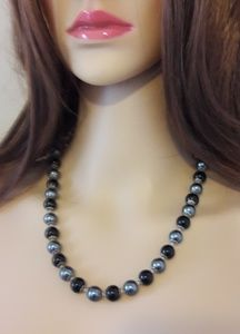Jewelry - 💝Midnight Blue & Onyx Necklace and Earrings